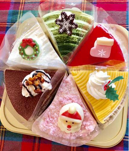 Six-slice Christmas Assortment Cake